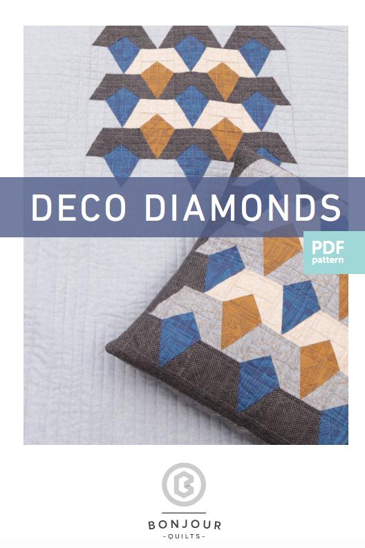 Image of Quilt Pattern PDF - Deco Diamonds