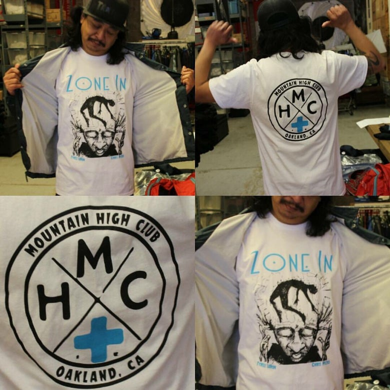 Image of Limited 'Zone In' T-Shirts (in collaboration w Mountain High Club, Oakland)