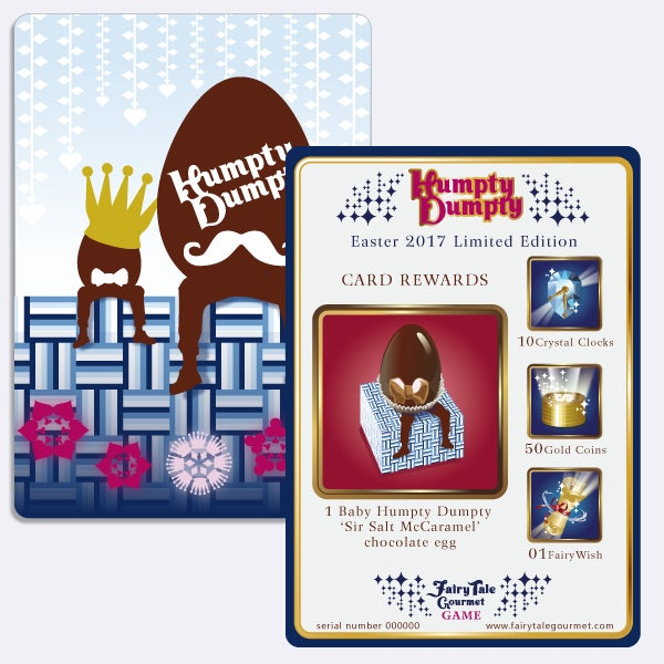 Image of Baby Humpty Dumpty 'Sir Salt McCaramel' Game Card