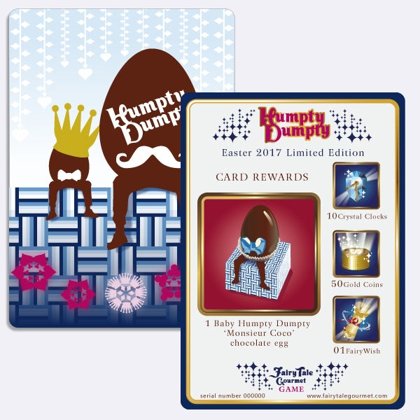 Image of Baby Humpty Dumpty 'Monsieur Coco' Game Card