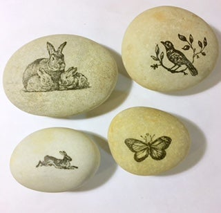 Image of Stamped Stones -  New Deer Stones for Christmas