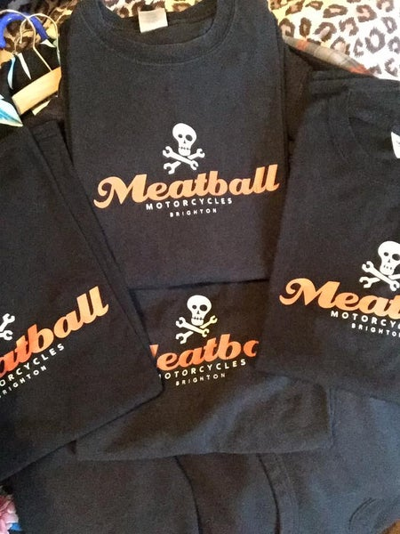 Image of MEATBALL MOTORCYCLE T-SHIRT
