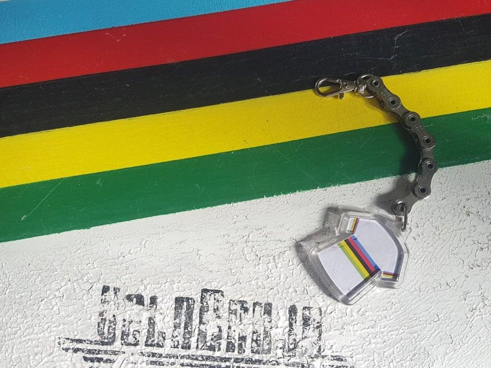 Image of World Championship Stripe Jersey FSA Chain Keyring