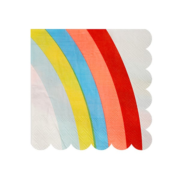 Image of Rainbow napkins - small