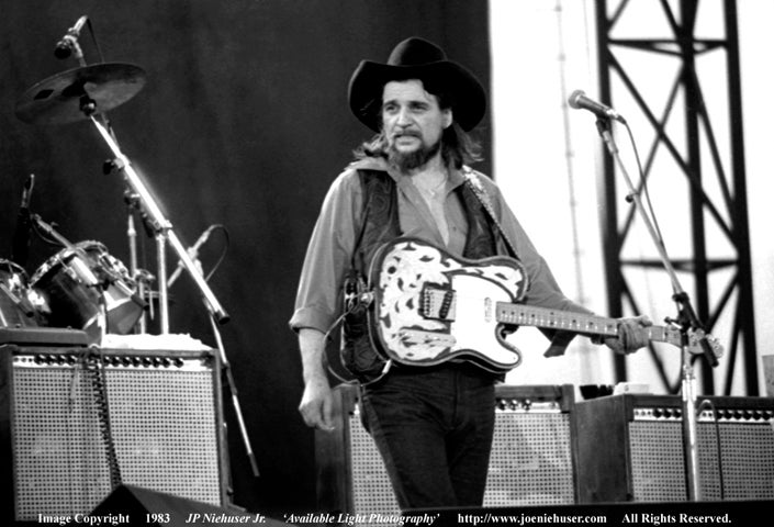 Image of Original 1983 Waylon Jennings Limited Edition Fine Art Print