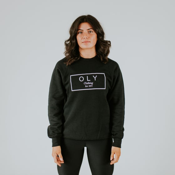 Image of Black OLY Signature Jumper