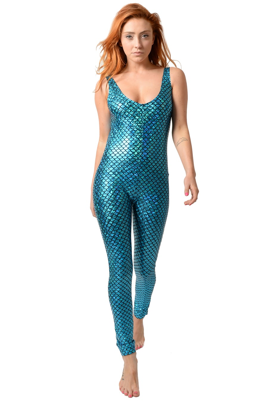Image of Turquoise Mermaid Catsuit