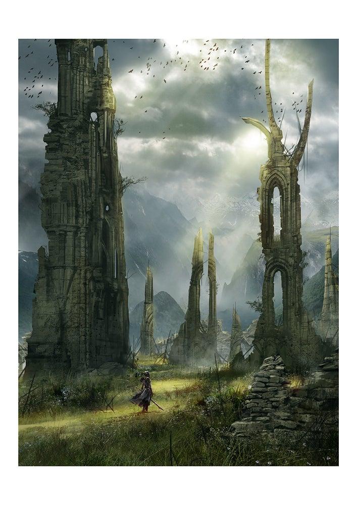 Image of Ancient Ruins (11.7 x 16.5 Print)
