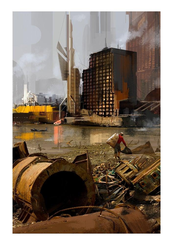 Image of Scrap River (11.7 x 16.5 Print)