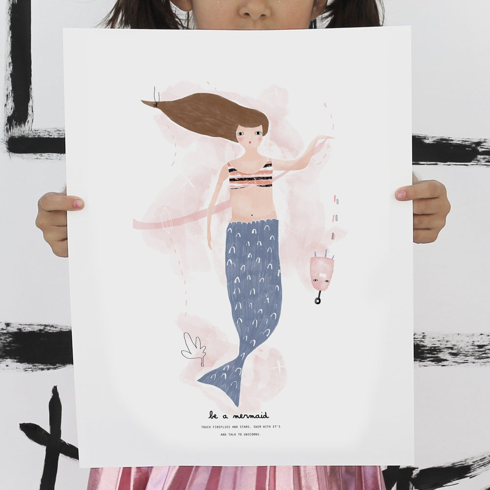Image of ART PRINT | BE A MERMAID
