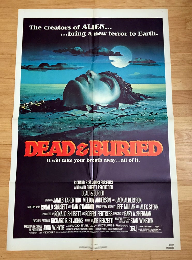 Image of 1981 DEAD & BURIED Original U.S. One Sheet Movie Poster