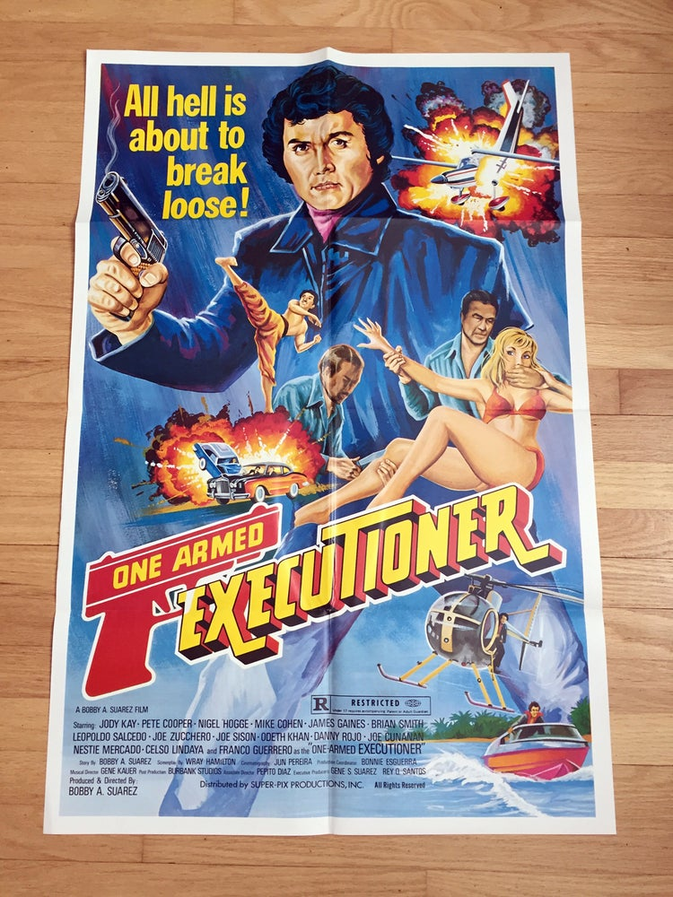 Image of 1983 ONE ARMED EXECUTIONER Original U.S. One Sheet Movie Poster