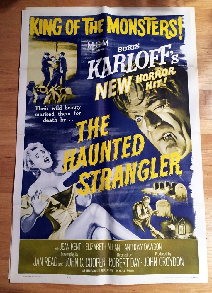 Image of 1958 THE HAUNTED STRANGLER Original U.S. One Sheet Movie Poster