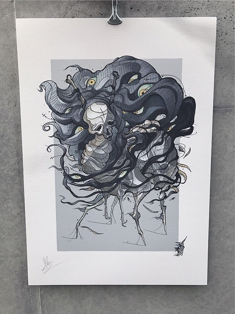 Image of -It's all in your head- Gray version, A3 & A4 Available