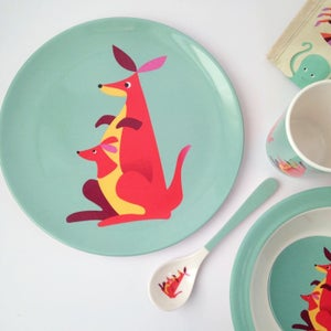 Image of Kangaroo Melamine Mealtime Set