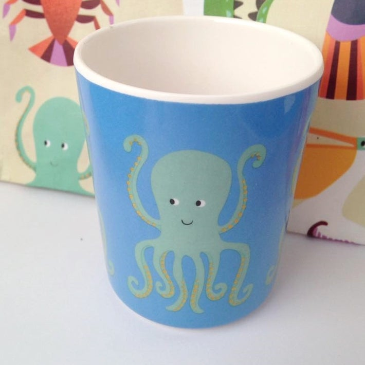 Image of Octopus Melamine Mealtime Set