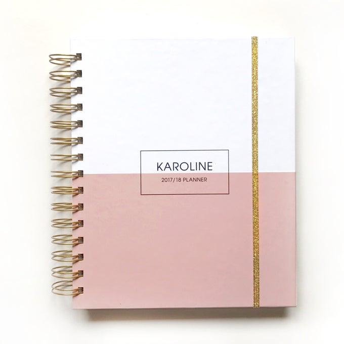 Image of 2018/19 2019 personalized planner geometry blush