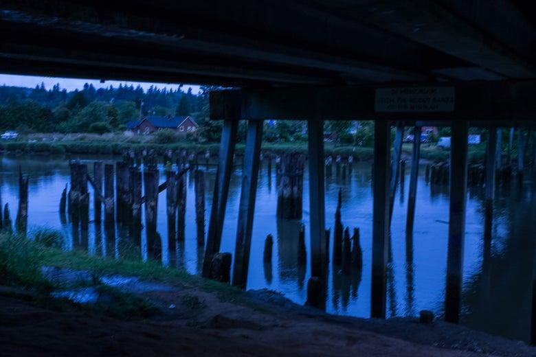 Image of Kurt Cobain bridge - Aberdeen, Washington