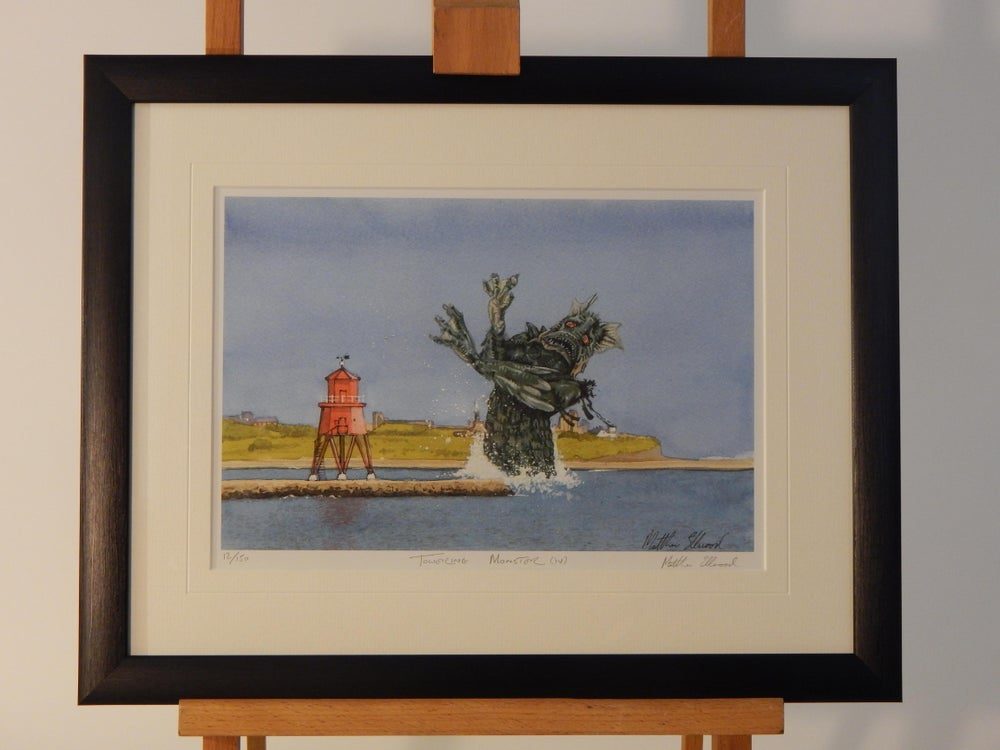 Image of Towering Monster(iv) Sea Monster at South Shields Groyne