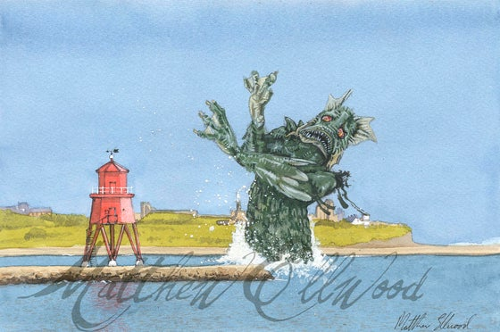 Image of Towering Monster(iv) Sea Monster at South Shields Groyne