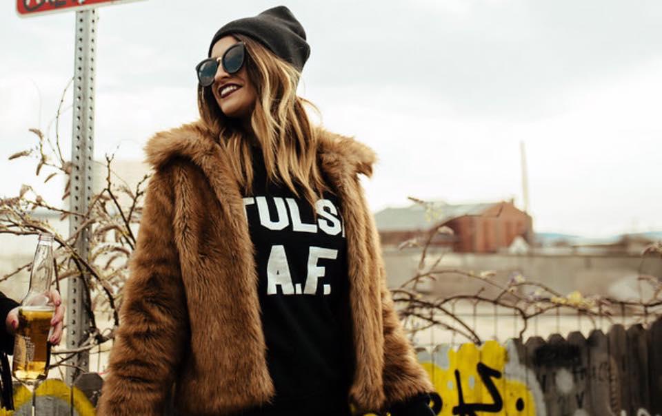Image of Tulsa A.F. Block Print Sweaters