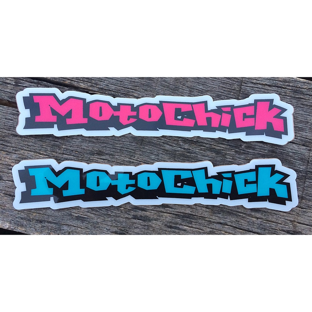Image of Moto Chick Decal