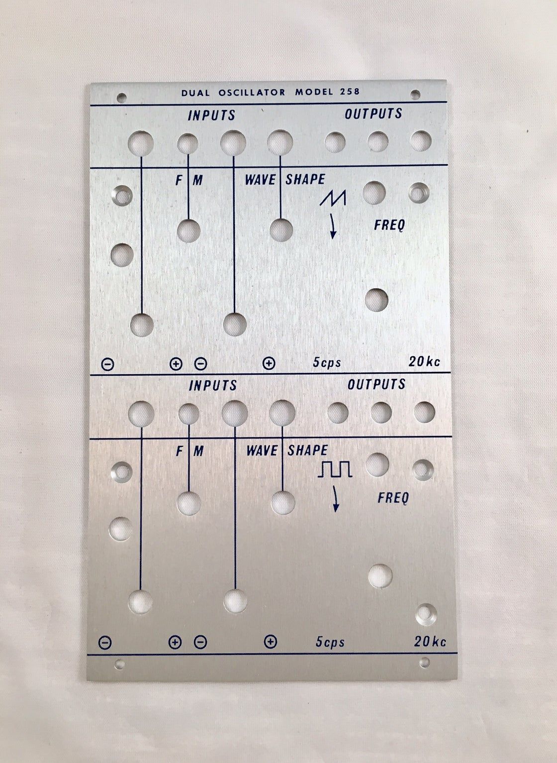 Image of 258c front panel