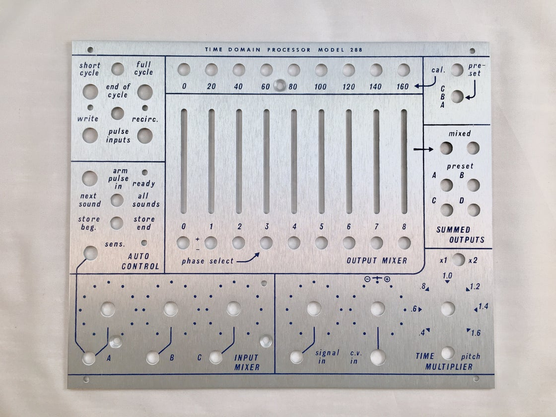 Image of 288 front panel (for DIY kit)