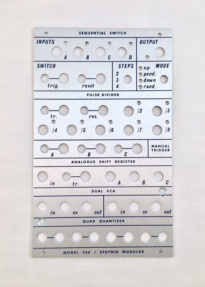 Image of 244 front panel (for DIY kit)