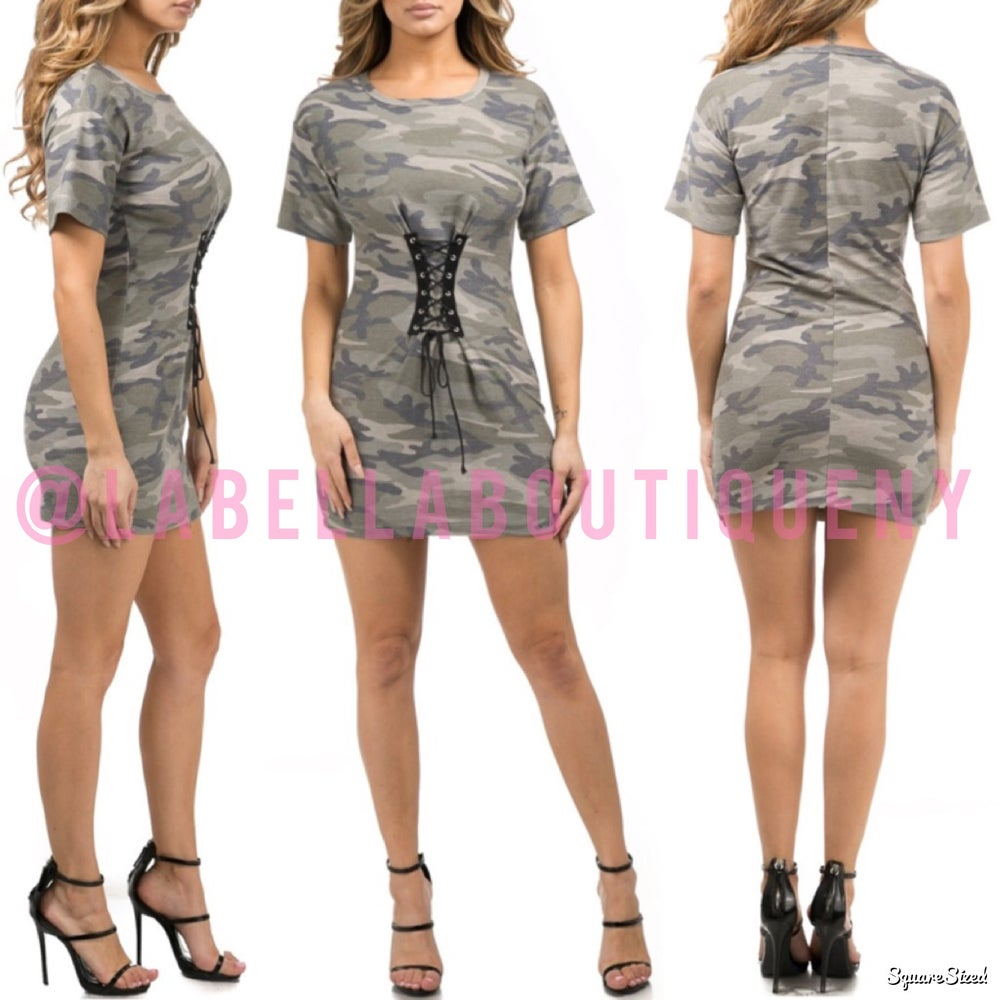 Image of CAMO CORSET DRESS