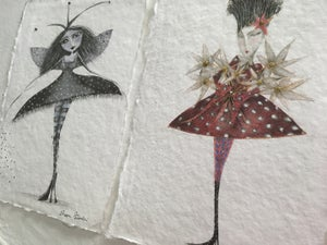 Image of SPECIAL OFFER Trio of Whimsical Drawings (15 SETS ONLY)