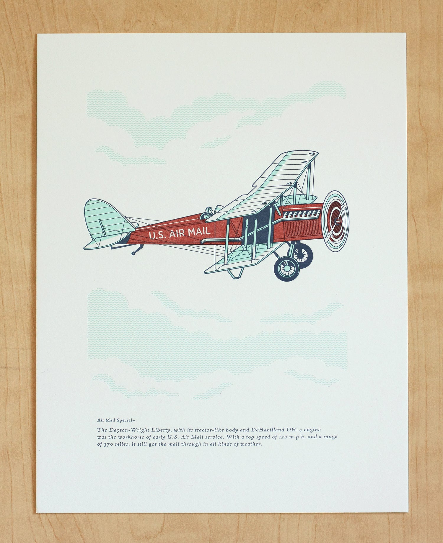 Image of AIR MAIL PLANE Print