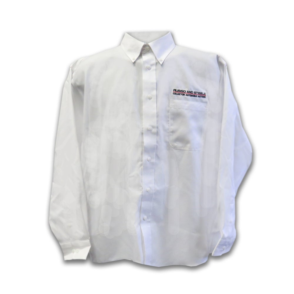 Image of Men's Ringman Long Sleeve Button Up White