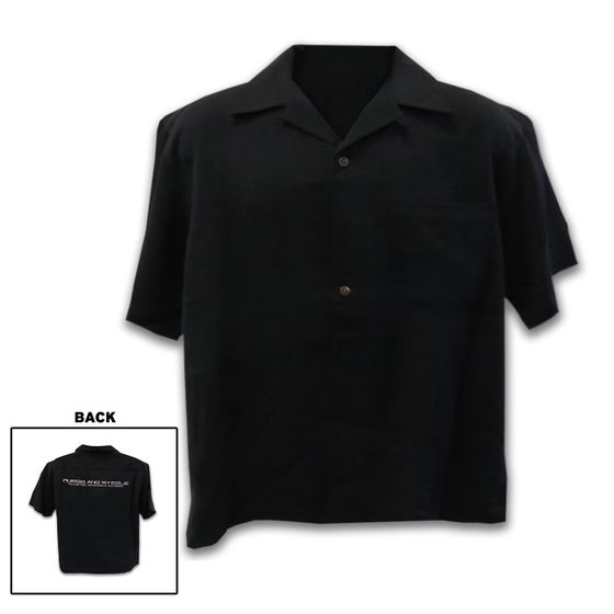 Image of Men's Camp Shirt Black button down