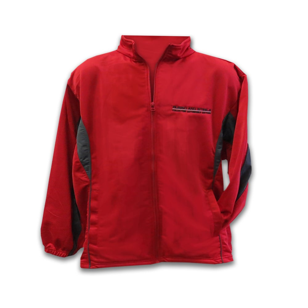 Image of Men's Track Jacket Red/Gray