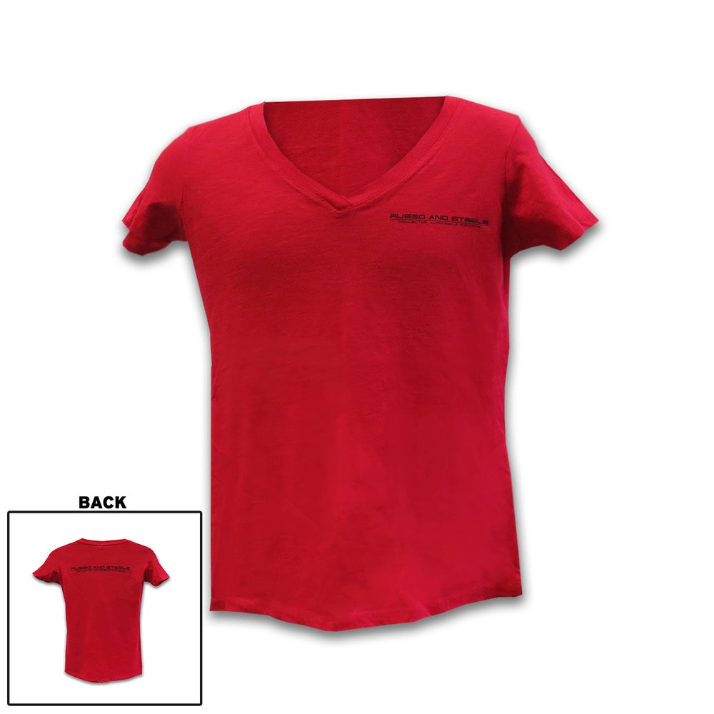 Image of Women's V-Neck Tee Red