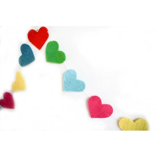 Image of Felt Heart Garland