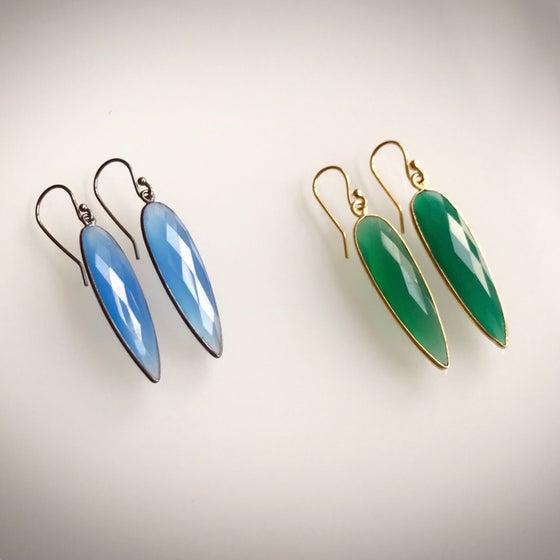 Image of Oblong Drop Color Earrings