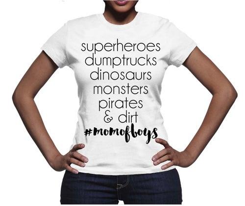 Image of Mom of Boys/Boy Mom T-shirt