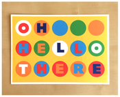 Image of Oh Hello There Dots Postcard - New!