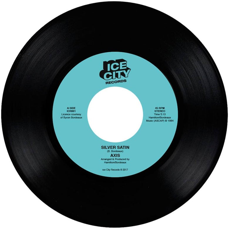 "Image of Axis - Silver Satin / Runaway Love 7"" (ICR001)"