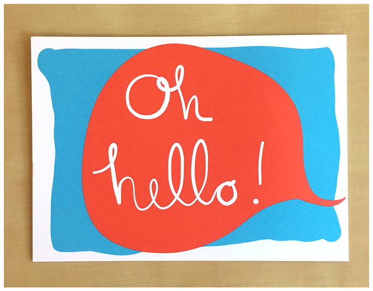 Image of Oh Hello Speech Bubble Postcard - New!