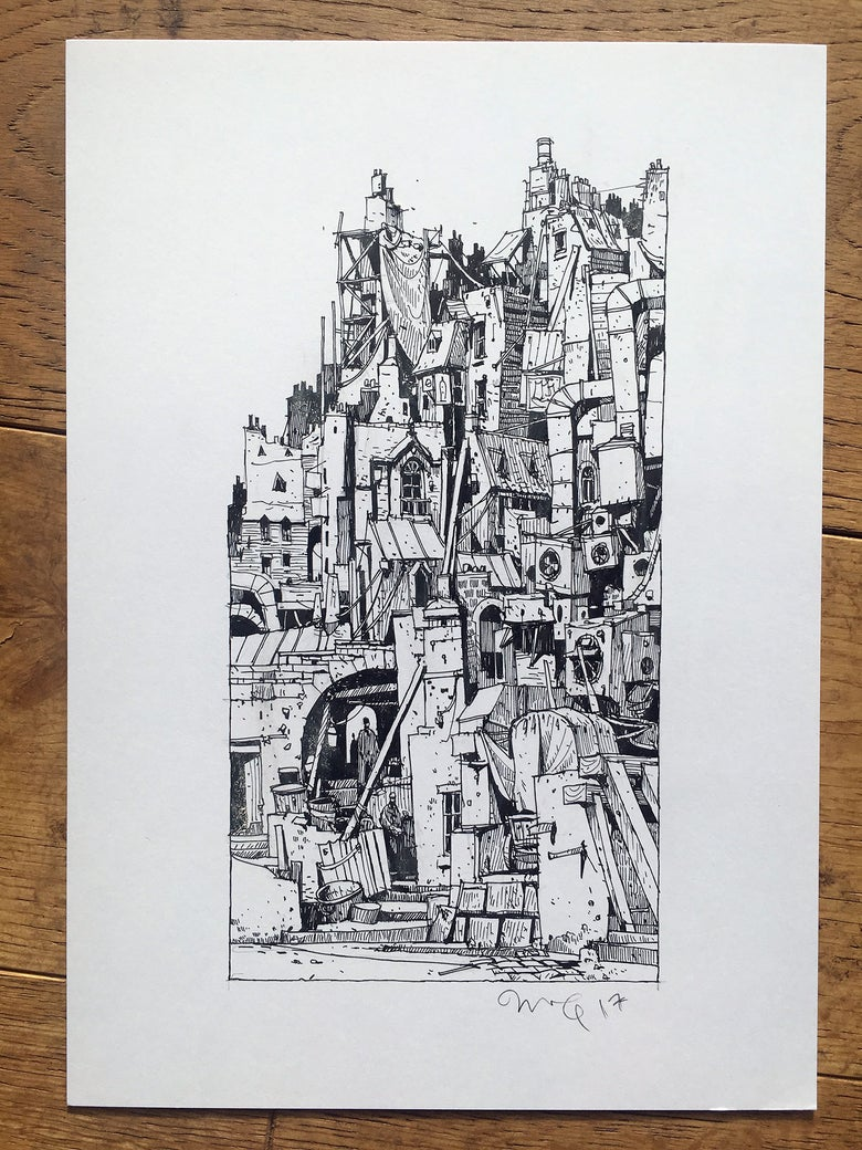 "Image of ""Old Town"" original artwork"