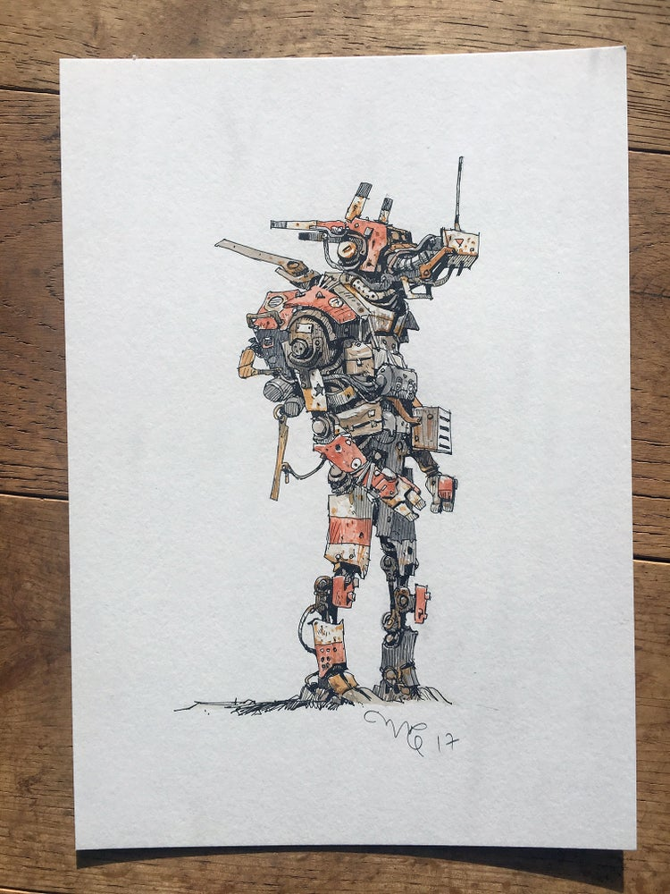"Image of ""Robodude Red"" original artwork."