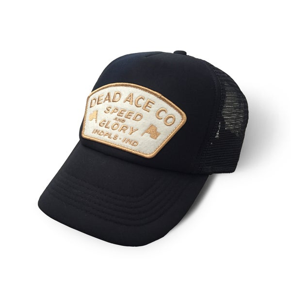Image of Speed & Glory Patch Trucker (Black)