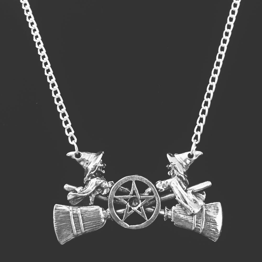 Image of Witch broom necklace