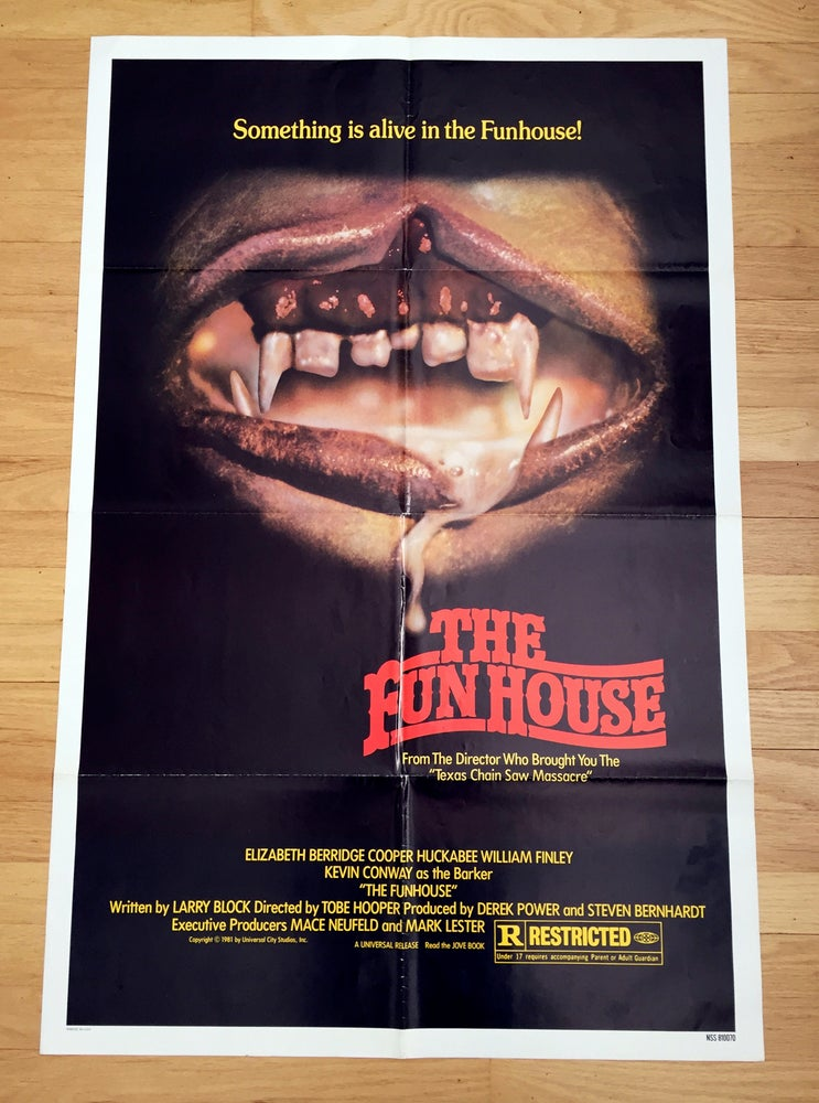 Image of 1981 THE FUN HOUSE Original U.S. One Sheet Movie Poster