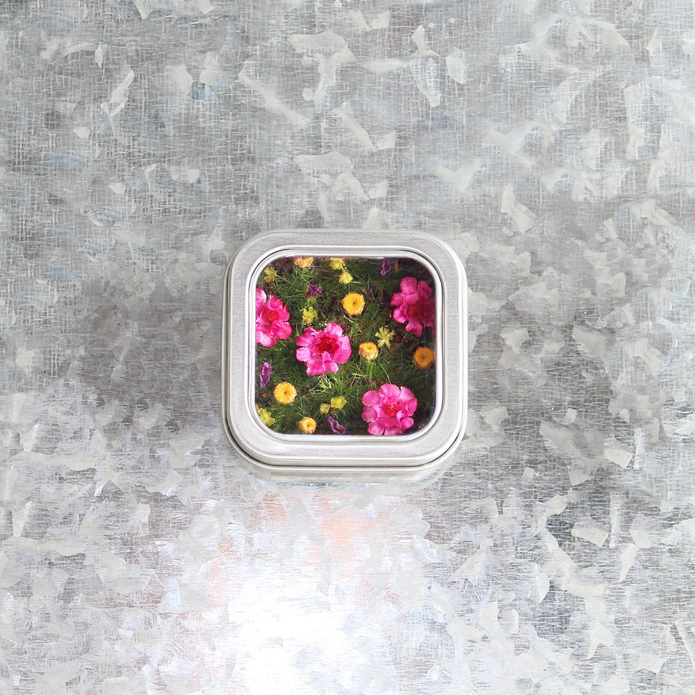 Image of Colorful Flower Garden Wall Art, Flower Meadow Magnet