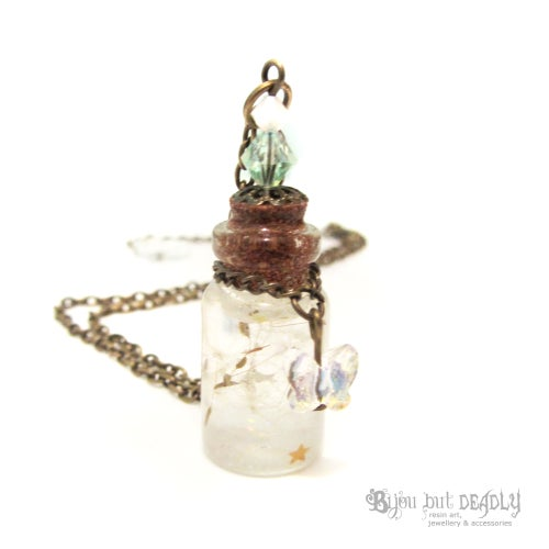 Image of Dandelion Wishes in Bottle Necklace
