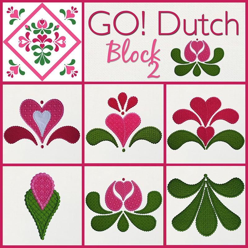 Image of GO! Dutch Block 2 Machine Embroidery Design